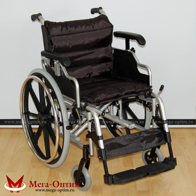 Инвалидная коляска алюминиевая LK 6118-41 (46) МЕГА-ОПТИМ