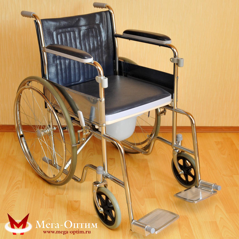 Инвалидная кресло-коляска с санитарным устройством LK 6005-46W МЕГА-ОПТИМ