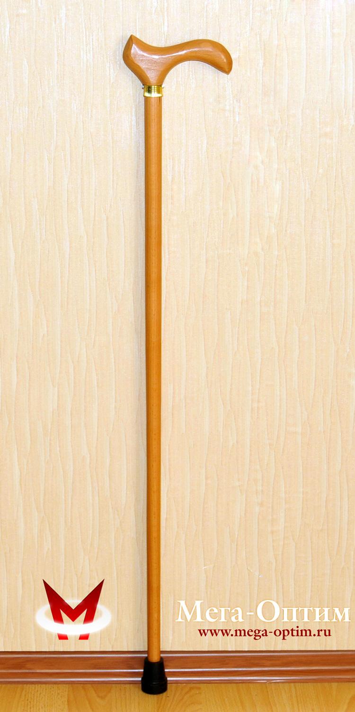 трость конусная деревянная с деревянной ручкой